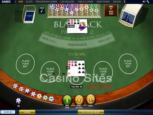 live dealer online casino europa